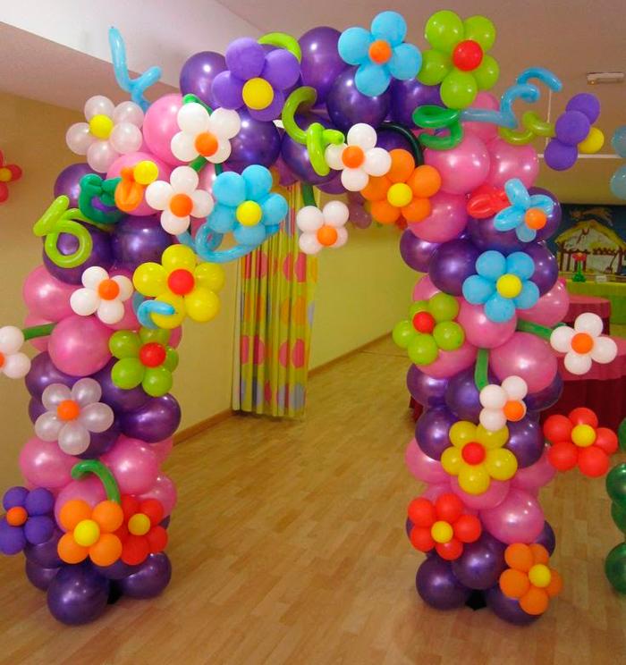 Оформление воздушными шарами своими рукам